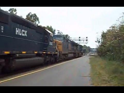 CSX 7802/933/5425/5346/F.T. IN FAYETTEVILLE N.C. ON 10/1/12.....VIDEO#81