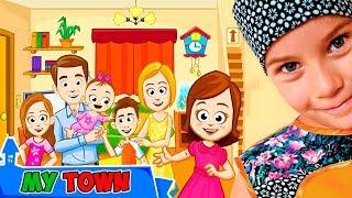 СМЕШНОЕ ВИДЕО ДЛЯ ДЕТЕЙ Новый игровой мультик My Town : Семейный дом детская игра