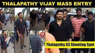 Viral Video : Thalapathy Vijay Mass Entry - Thalapathy 63 Shooting Spot | Nayanthara | Atlee