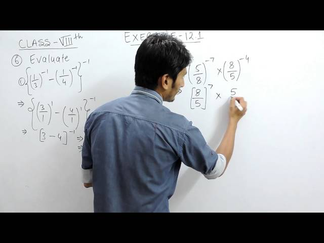 Exercise 12.1 - Question 6 (i,ii) NCERT Solutions for Class 8th Maths Exponents and Powers