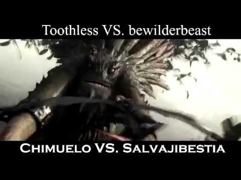 Chimuelo vs. salvajibestia (toothless vs. bewilderbeast)
