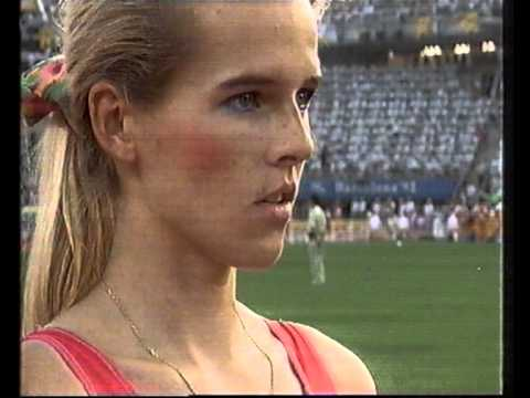 1992 Summer Olympic Games Susen Tiedtke  Longjump Track and Field