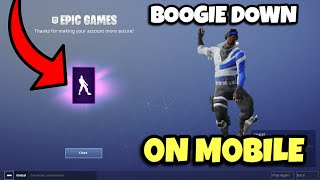 Comment obtenir le Boogie Down Emote dans Fortnite sur mobile