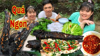 Eating Western Grilled Snakehead Fish With As Ú TV and Huynh Nhu Vlogs