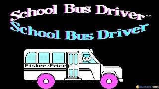 School Bus Driver gameplay (PC Game, 1988)