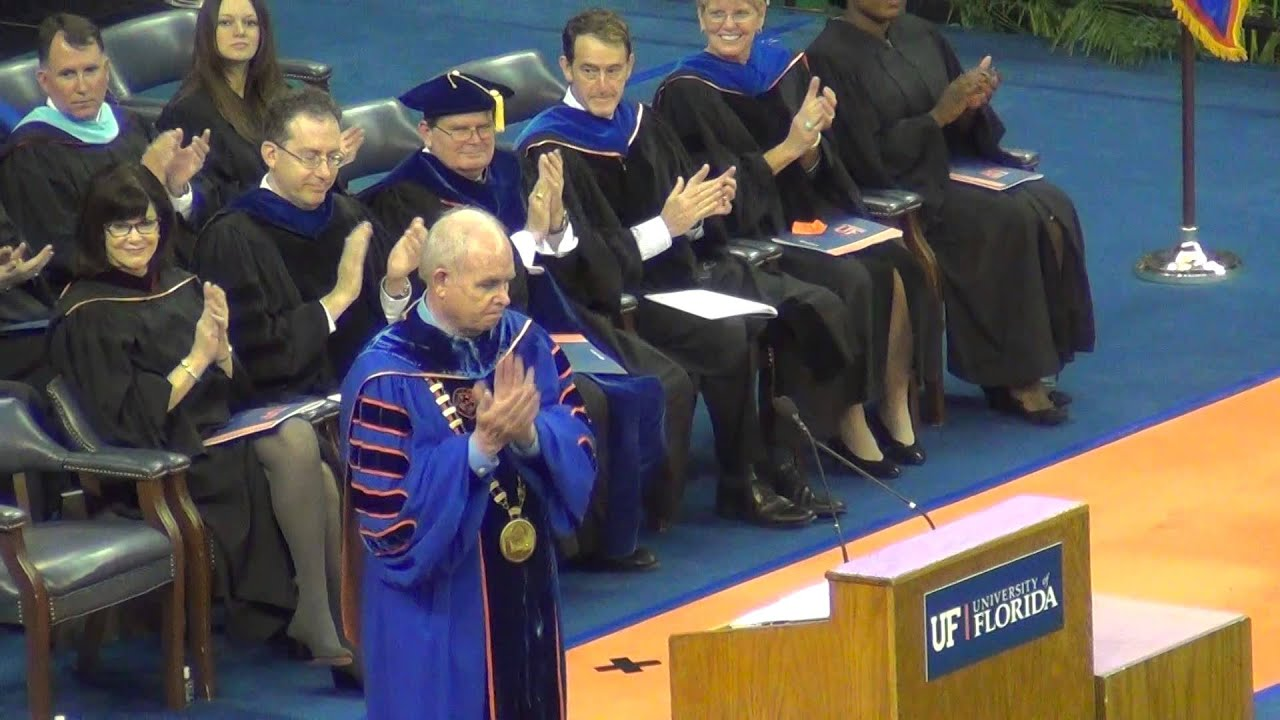 Masters degrees please rise. UF graduation 12/13 - YouTube