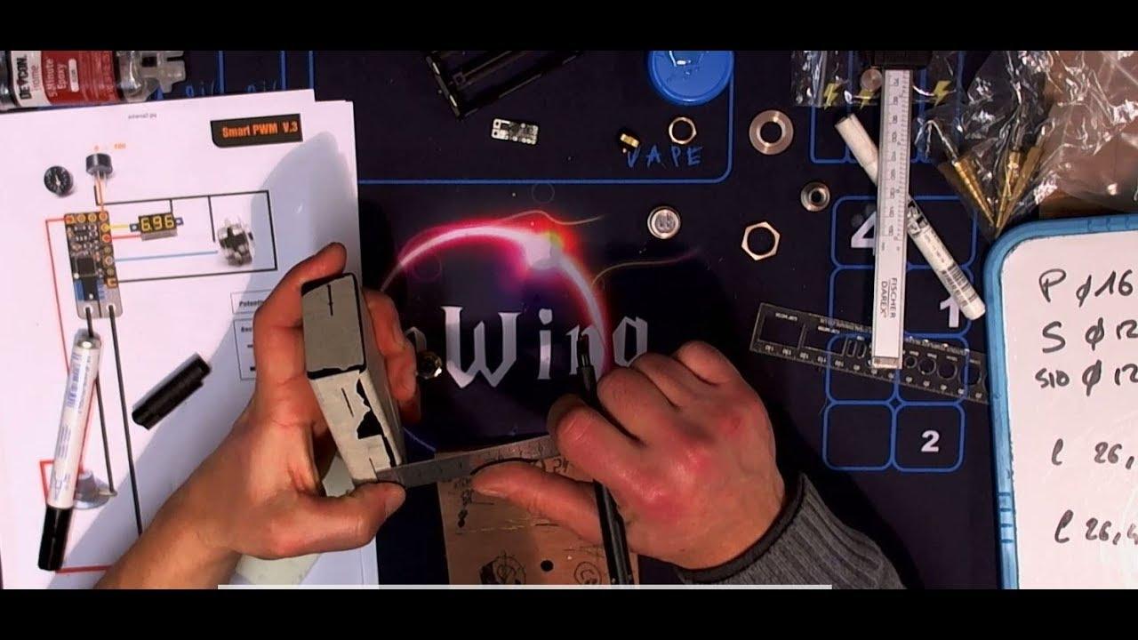 Box Homemade - Smart PWM v3 (épisode 1/3) - WideBoy 100 Noir - finitions  inox + led