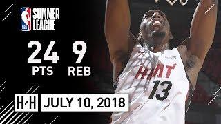 Bam Adebayo Full Highlights vs Jazz (2018.07.10) Summer League - 24 Pts, 9 Reb