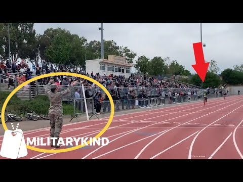 Hugging Air Force mom is real prize at track meet | Militarykind