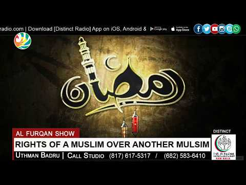 Rights of Muslim Over Another Muslim