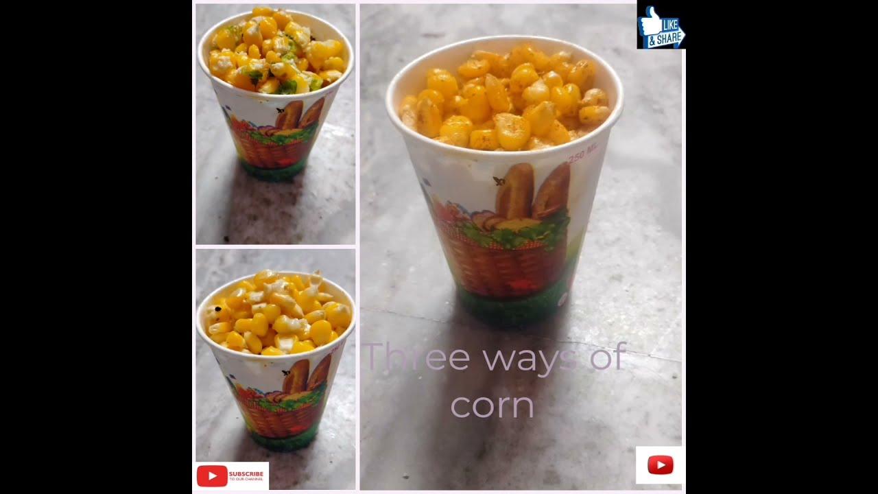 Download American corn 3 ways-cheese chilli, masala & butter sweet corn Recipe