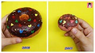 Thử thách Làm lại squishy từ 1 năm trước- Squishy Donut / Ami DIY