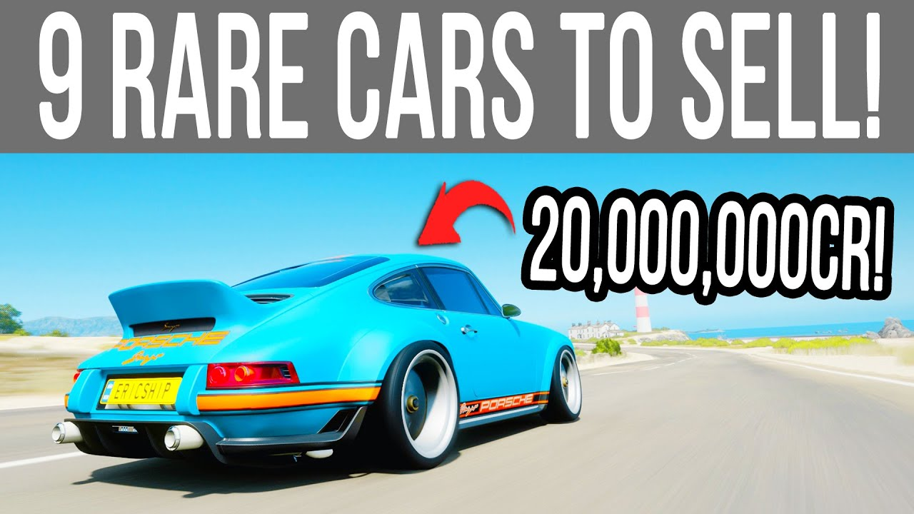 Forza Horizon 4 - 9 RARE Cars You Can SELL For Millions of Credits!