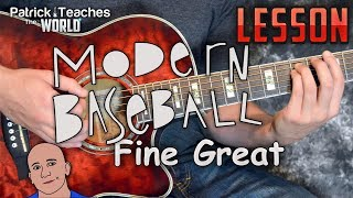 Modern Baseball-Fine Great-Guitar Lesson-Tutorial-How to Play