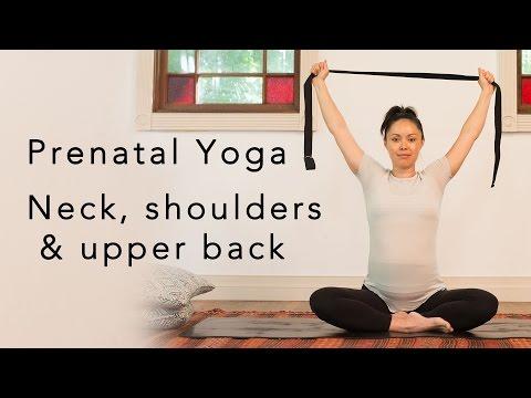 Prenatal Yoga for neck & shoulders 20min