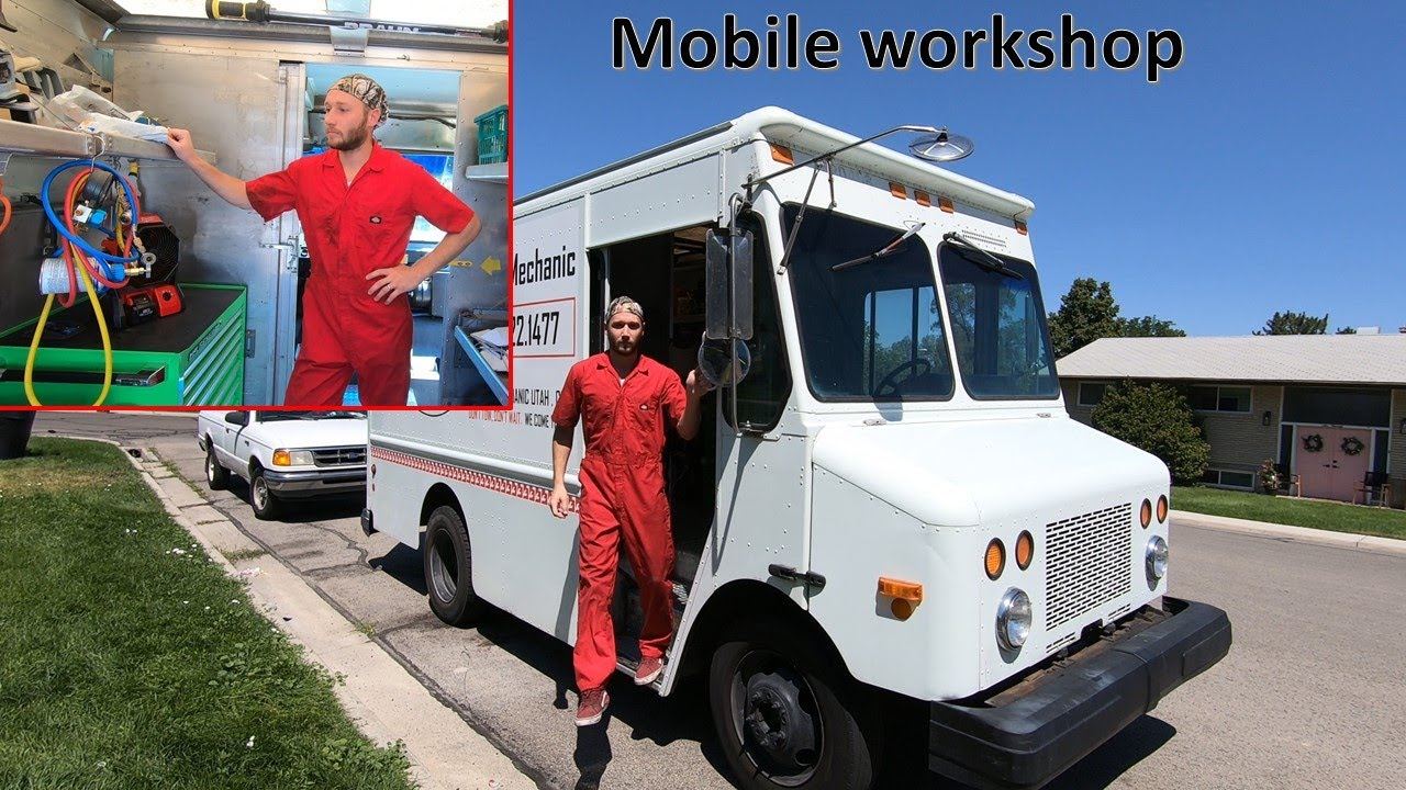 Mobile mechanic Mail truck workshop tour! Full detailed tour. Whats inside?