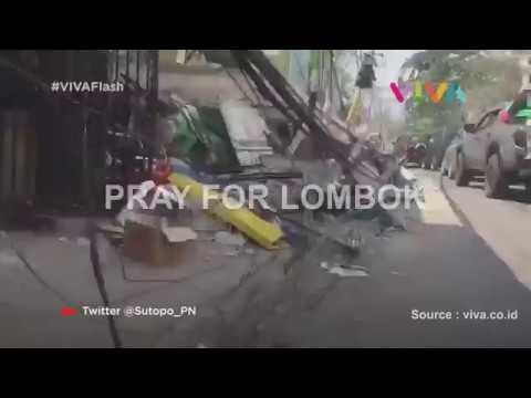 Polres Kebumen dan Kodim 0709/Kebumen Salurkan Bantuan Kepada Korban Bencana Alam Lombok