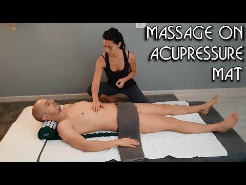 4K 💆 Massage on Acupressure Mat - ASMR no talking video 1/2