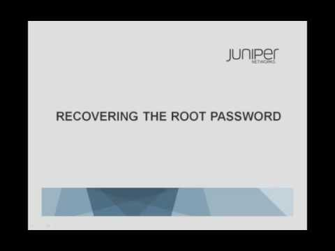 Recovering the root password in Junos OS