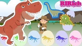 【恐竜】たまごのおもちゃアニメ りりちゃんねるの動画では たまごのお...
