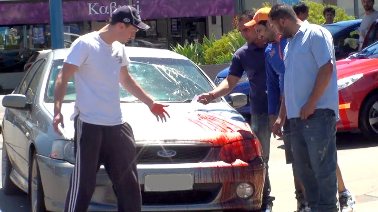 Bloody Car Accident Prank Youtube