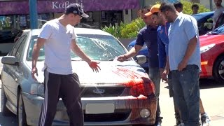 BLOODY Car Accident Prank