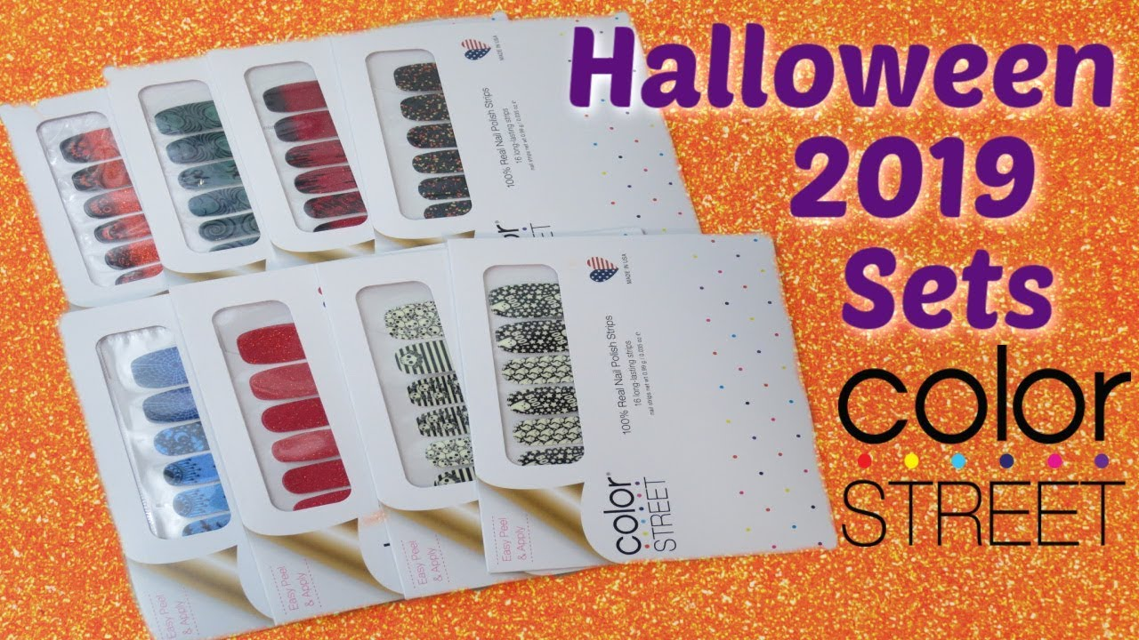 Color Street 2019 Halloween Nail Sets! - YouTube