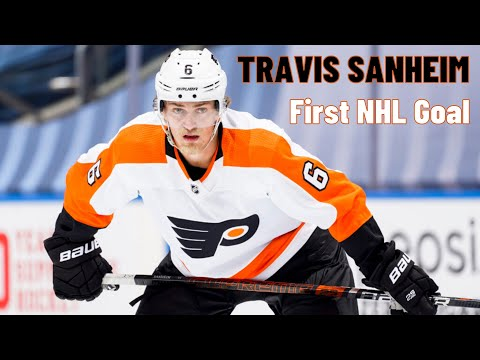 Travis Sanheim #6 (Philadelphia Flyers) first NHL goal 14/12/2017