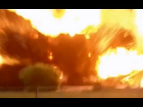Moment Texas fertiliser plant exploded injuring 'hundreds' c