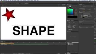 Animate CC - Créer une Interpolation de Forme