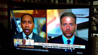 ESPN First Take molly growing tired of Stephen a Smith