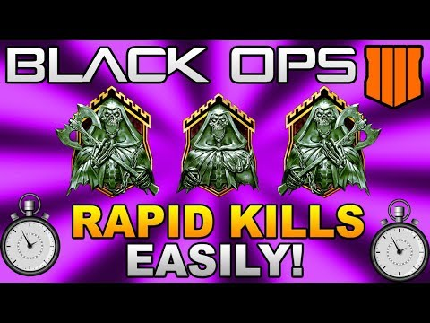 Black Ops 4: HOW TO GET EASY RAPID KILLS (Diamond/Gold/Dark matter Camo Fast)!