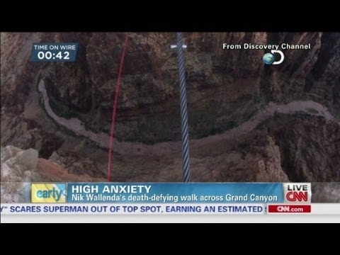 Nik Wallendas Deathdefying Walk Across Grand Canyon YouTube - Nik wallendas epic blindfolded skyscraper tightrope walk