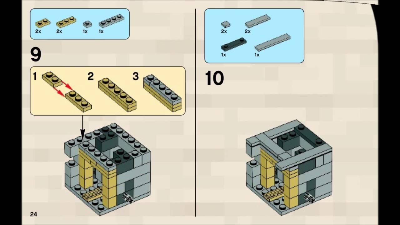 21105 Lego Minecraft The Village Instruction Booklet Youtube