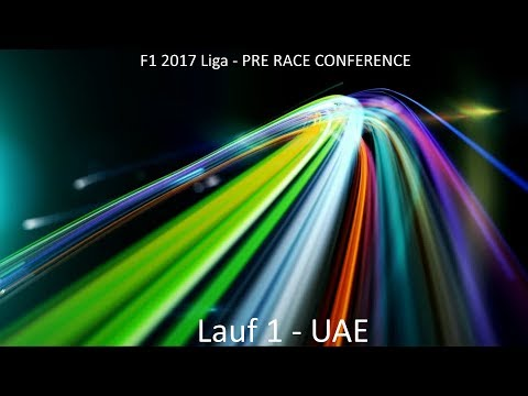 F1 2017 Liga - Pre Race Conference Lauf 1 - UAE