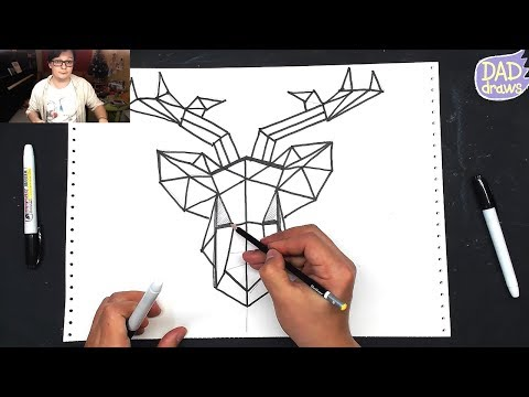 how-to-draw-a-deer-/-triangles-/-geometry
