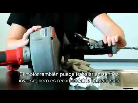 Desatascador k 45 para peque as tuber as de desag e youtube - Desatascador de tuberias a presion ...