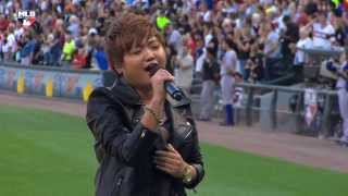 Charice performs the US National Anthem — 2013 Civil Rights Game