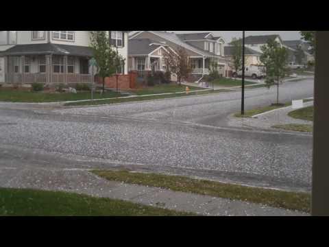 Hailstorm - Commerce City, CO - July 4, 2010