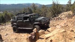 HUMMER 4x4 OFFROAD Big Bear run 1  (Gold Mountain trail)