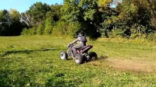 Moteur moto 500 gpz sur Quad