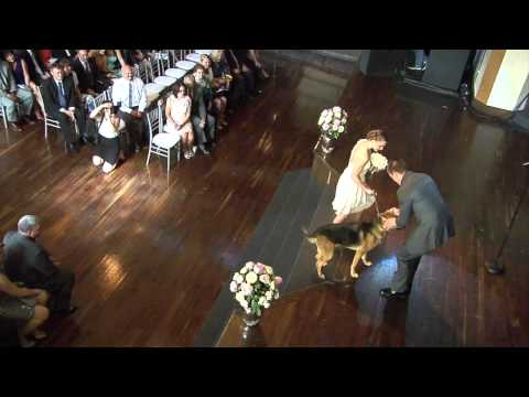 Couple shares wedding day vows with their dog