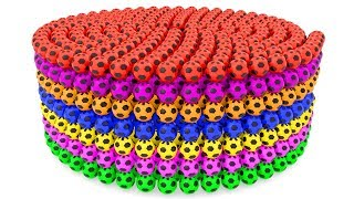 Learning Colors With 3D Soccer Balls Spiral For Kids for Children Toddlers and Babies