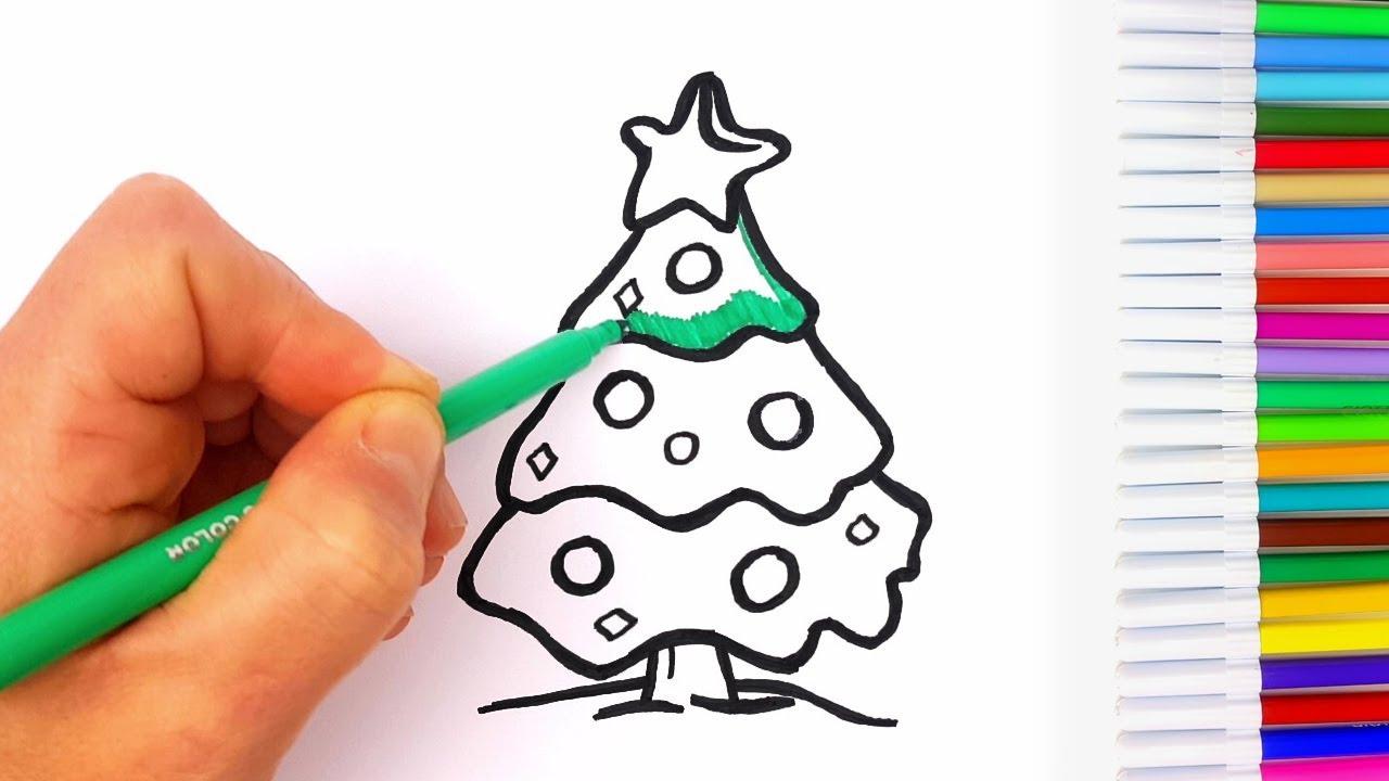 Albero Di Natale Disegno Da Colorare.Disegni Di Natale Da Colorare Per Bambini Albero Di Natale Candela Di Natale Palle Di Natale Youtube