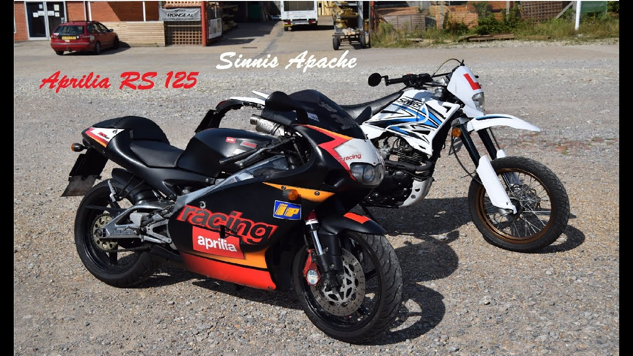 summer riding aprilia rs 125 sinnis apache youtube. Black Bedroom Furniture Sets. Home Design Ideas