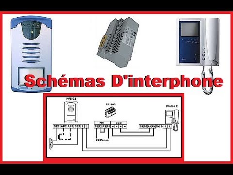 branchement electrique d 39 interphone youtube. Black Bedroom Furniture Sets. Home Design Ideas