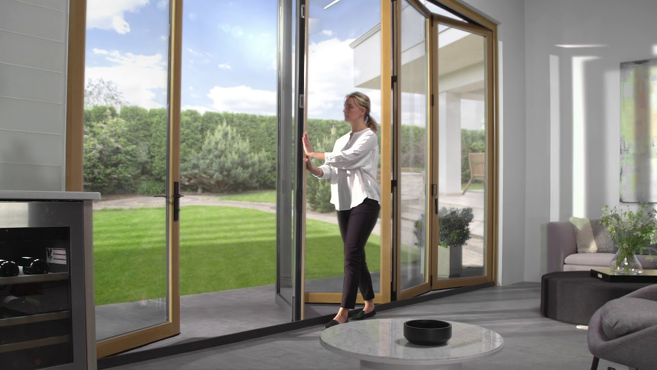 bring the outside in with pella scenescape bifold patio doors