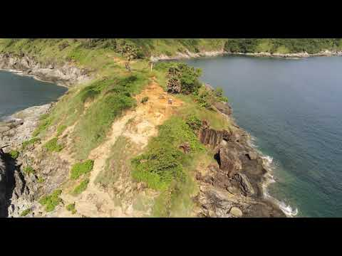 Drone view of Phuket's Promthep Cape