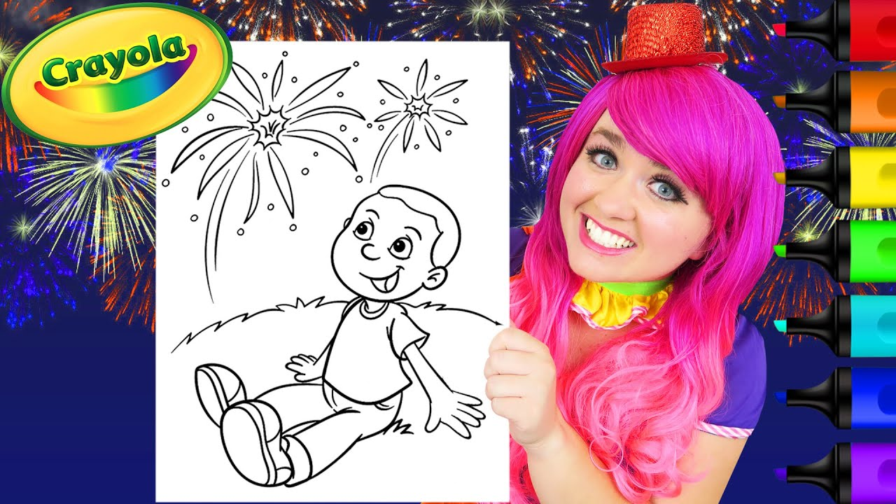 How To Color A Fireworks Show | Glitter Markers