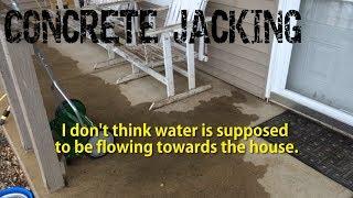 Concrete Porch Jacking with Spray Foam